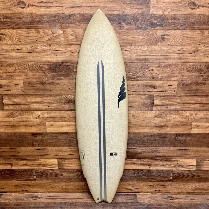 SOLID WTF Model Twin Fin Hemp Surfboard