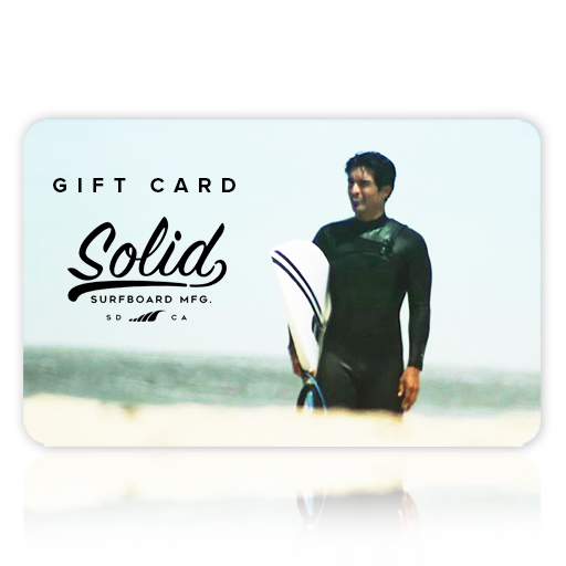 SOLID Surfboards Custom Surfboard Gift Card